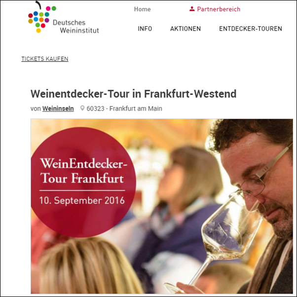 WeinEntdecker 2016 -Tour in Frankfurt