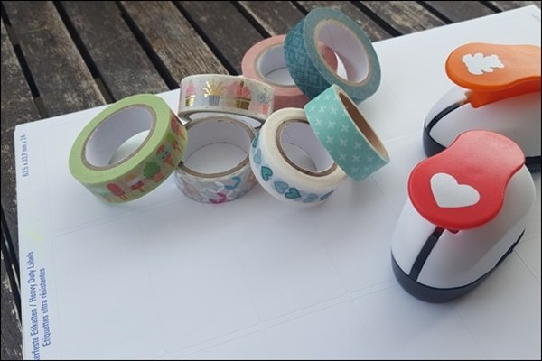 Washi Tape Sticker basteln - Ideen mit Washi Tape