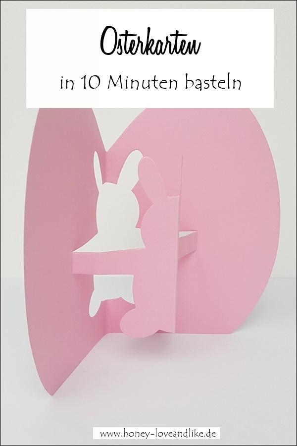 schnelle Osterkarten basteln