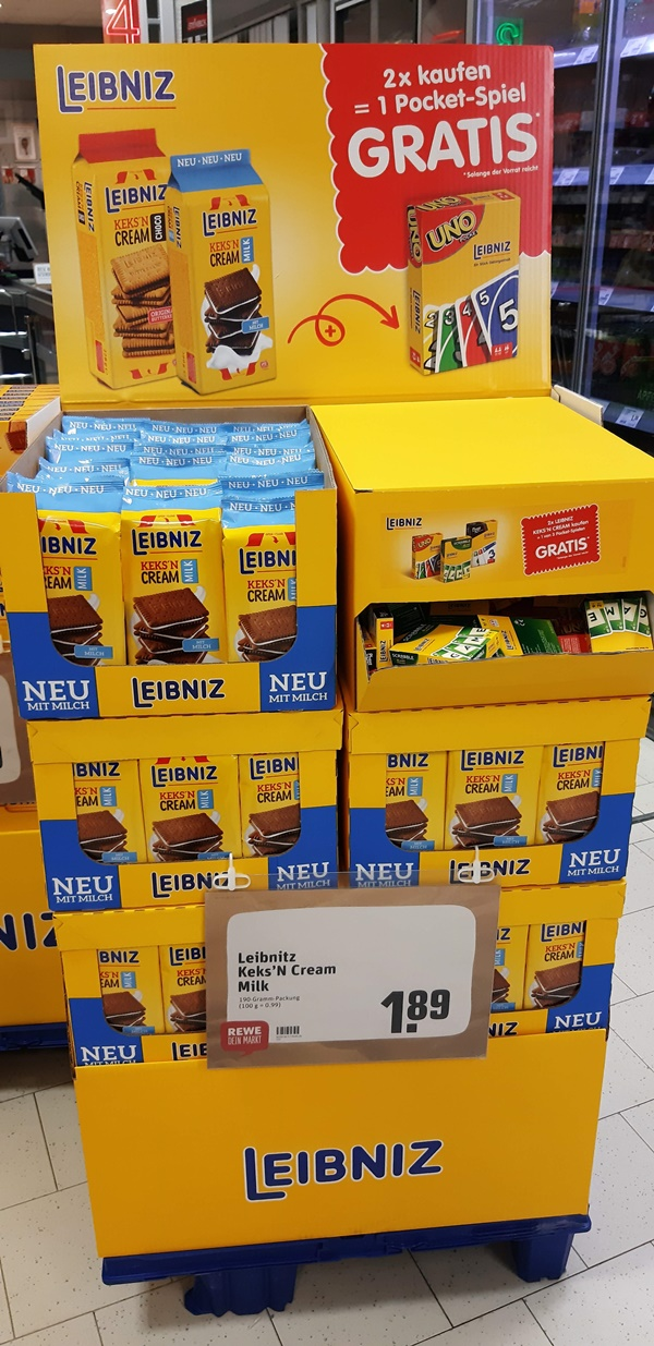 2x Leibniz Kekse kaufen = 1 Pocket-Spiel gratis erhalten.